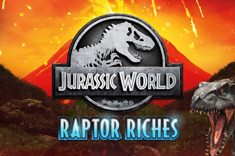 Preserve resurrected dinosaurs in the new Jurassic World Raptor Riches slot