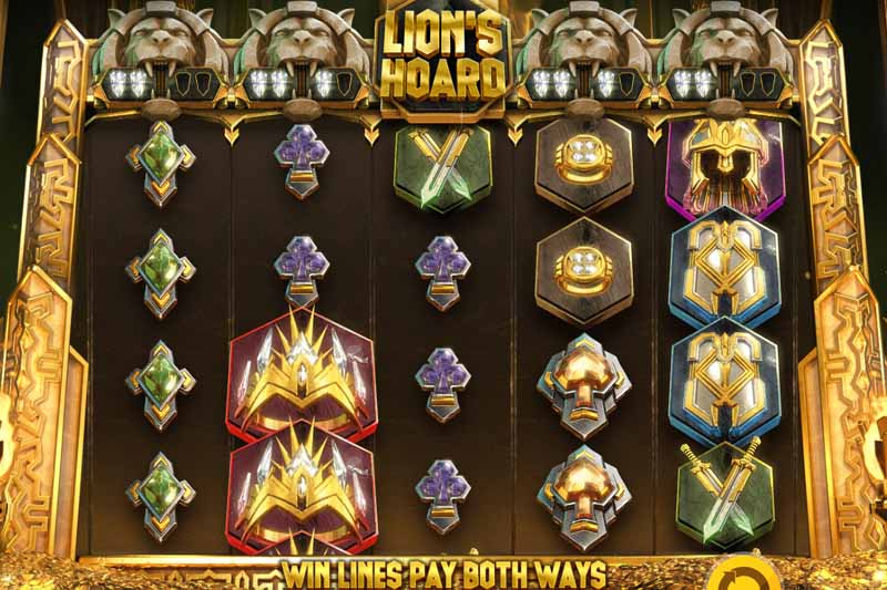 Brave the hoard in the new Lion's Hoard slot by Red Tiger
